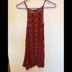 brandy Melville burgundy & yellow swing dress!